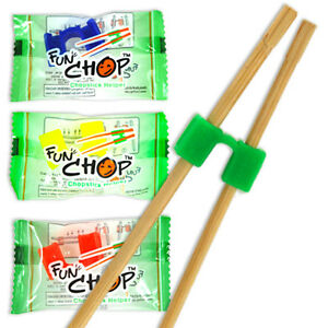 100 Pcs. Kids FUN CHOP Training Helper Chopsticks/Assorted Individual Packaged