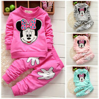 Kids Baby Girls Minnie Tops T-shirt+Pants 2pcs Outfits Set Tracksuit Clothes