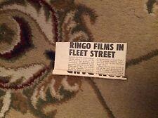 u1-4 ephemera 1972 small article ringo starr works in film
