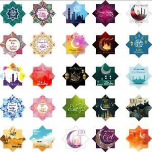 25 Eid Mubarak Kareem Diamond Decorations Cards DIY Cupcakes Picks