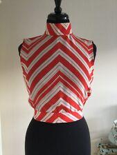 Paul & Joe Ladies 100% Silk Blouse Top Shirt Size 8 Colour Red Mix