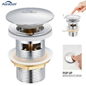 Ablaufgarnitur POP UP Abfluss Ablaufventil Waschbecken mit Überlauf Stöpsel DE