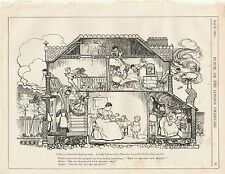 1905 Punch Cartoon Suburban House Collection for Incurable Children
