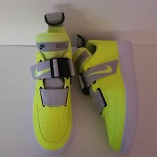 New Nike Air Force 1 Utility Sneakers Shoes AO1531-700 Volt/Black/White Size 13