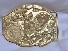 Martin Archery GOLD Colored Belt BUCKLE (3.25 x 2.75 inches)