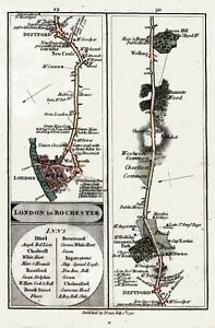 MAKE REPRO 18thc CARY ENGLAND MAPS - High Res Images To Print, Disc or Download