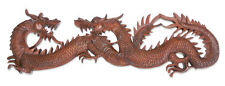 Wood Relief Panel Wall Sculpture Hand Carved 'Dragon Game' NOVICA Bali