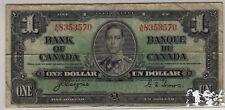 1937 Bank of Canada One Dollar Bill (RP6)