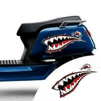 A pair of shark mouth kayak stickers outdoor yacht stickers flowers pull L2M8