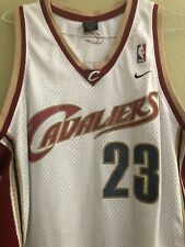 LEBRON JAMES #23 CLEVELAND CAVALIERS WHITE SEWN NIKE NBA JERSEY XL (L+2)