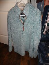True Grit Sherpa pullover in Aqua size M  NEW!!!