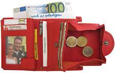 LEDER Geldbörse WIENER MINIBRIEFTASCHE rot mit Wiener Schachtel Geldbeutel