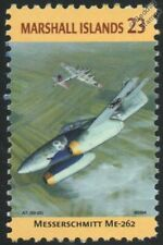 WWII MESSERSCHMITT Me.262 Schwalbe vs. B-17 Aircraft Stamp (Marshall Islands)