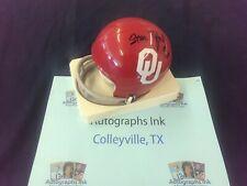 Steve Zabel Autographed Oklahoma Sooners Mini Helmet A4