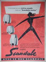 PUBLICITÉ DE PRESSE 1953 LA GAINE SCANDALE - D'après J.JACQUELIN - ADVERTISING