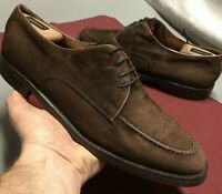 Cole Haan Suede MocToe Oxfords◾10106◾Men's Size 10.5M◾Chocolate Brown◾👌SHARP👌