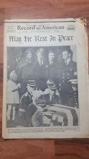 Record American Newspaper Boston November 26 1963 President Kennedy Laid To Rest