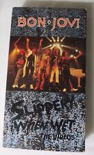 BON JOVI~SLIPPERY WHEN WET ~ THE VIDEOS ~ VHS, 1987~PolyGram MUSIC VIDEO~1+ SHIP