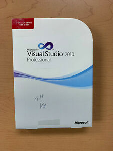 Visual Studio 2010 Professional Microsoft for Windows 7/10 C5E-00539
