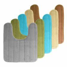 U Shaped Bathroom Rugs Contour Non-slip Toilet Mat Backing Cozy Velvet Floor Mat