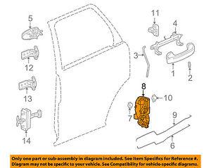 Saturn GM OEM 06-07 Vue Rear Door-Lock Actuator Motor 15900264