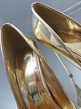 2017 Hohe Damen Pumps Elegant Classic Sexy High Heels N31 Schuhe Metallic Gold