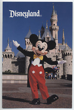 VTG Disneyland Park Mickey Mouse Costume Character Mascot Castle Postcard