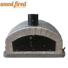 Outdoor wood fired Pizza oven 90cm Maxi-Italian dark grey with black door