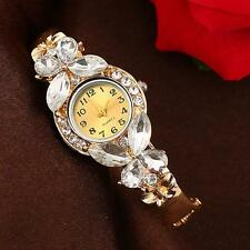 Fashion Women's Watch Crystal Rhinestone Butterfly Bracelet Quartz Wrist Watches