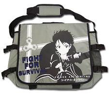 **License Bag** Sword Art Online Kirito Fight Grey Messenger Backpack #11518
