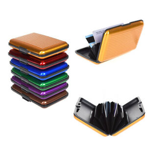 RFID Blocking Aluminum Slim Wallet ID Credit Card Holder Case Purse Unisex