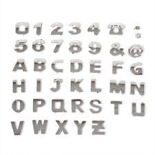 3D 40pcs Car Alphabet Letter Number Symbol Emblem Badge DIY Plastic Plating