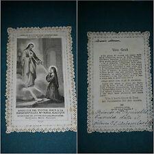 """Santino merlettato """"Apparizione Gesù alla Beata Margherita Maria Alacoque"""" Holy"""