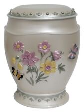 Large/Adult 220 Cubic Inches Hummingbird/Butterfly/Flower Resin Cremation Urn