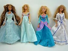 BUNDLE OF 4 VINTAGE 1980'S -1990'S BARBIE DOLLS WITH BALL GOWNS / DRESSES