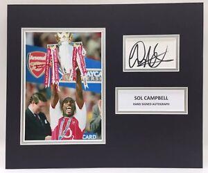 RARE Sol Campbell Arsenal Signed Photo Display + COA AUTOGRAPH ENGLAND