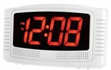 Acctim Vian Bold Red LED Display Mains Power Digital Alarm Clock Battery Backup