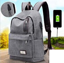 Anti-theft Travel Backpack Unisex USB Computer Notebook School Laptop Bag