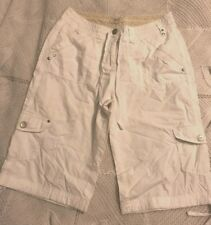 Ladies white cropped combat style pants by Papaya 8