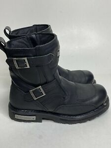 Harley Davidson Men's Manifold Engineer 11M Black Leather Motorcycle boots Great