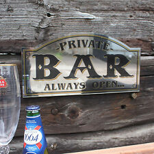Bar Mirror,Vintage Style Mirrored Pub Sign, Shaped Home Bar Mirror, Private Bar