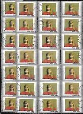 Poland collection of 28 large stamps picture frames young girl in red used