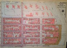 1955 HARLEM GRANT'S TOMB MANHATTAN NYC G.W. BROMLEY PLAT ATLAS MAP 12 X17