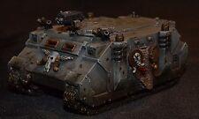 Warhammer 40k space wolves/lupi siderali rhino modificato pro painted.