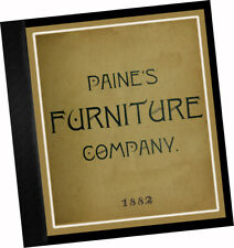 Paine's Furniture Co 1882 CATALOGUE Fine Wood Bedroom Parlor Chairs book cases