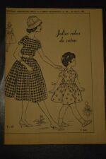 """"""" FEMMES D'AUJOURD'HUI """" PATRON SUPPL. DU N°743 // JOLIES ROBES DE COTON T42 4 A"""