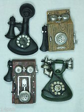 Antique Style Telephone Fridge Magnet Set of 4 Poly Resin MAGATEL **LAST SET**