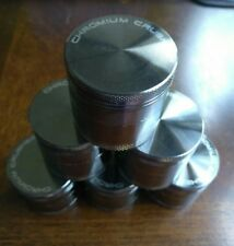 """Chromium Crusher 1.6"""" Inch 4 Piece Tobacco Spice Herb Grinder - Gunmetal"""