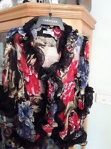 Gorgeous Bolero Style Top/Jacket ~ Size (12-14) 3/4 Sleeves ~ Day or Night Wear