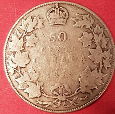 1918 Silver Canadian 50 Cent Coin   ID #94-9